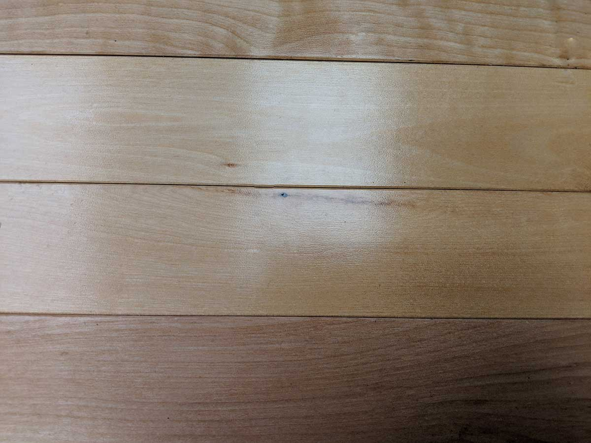 Close up of Birch wood flooring