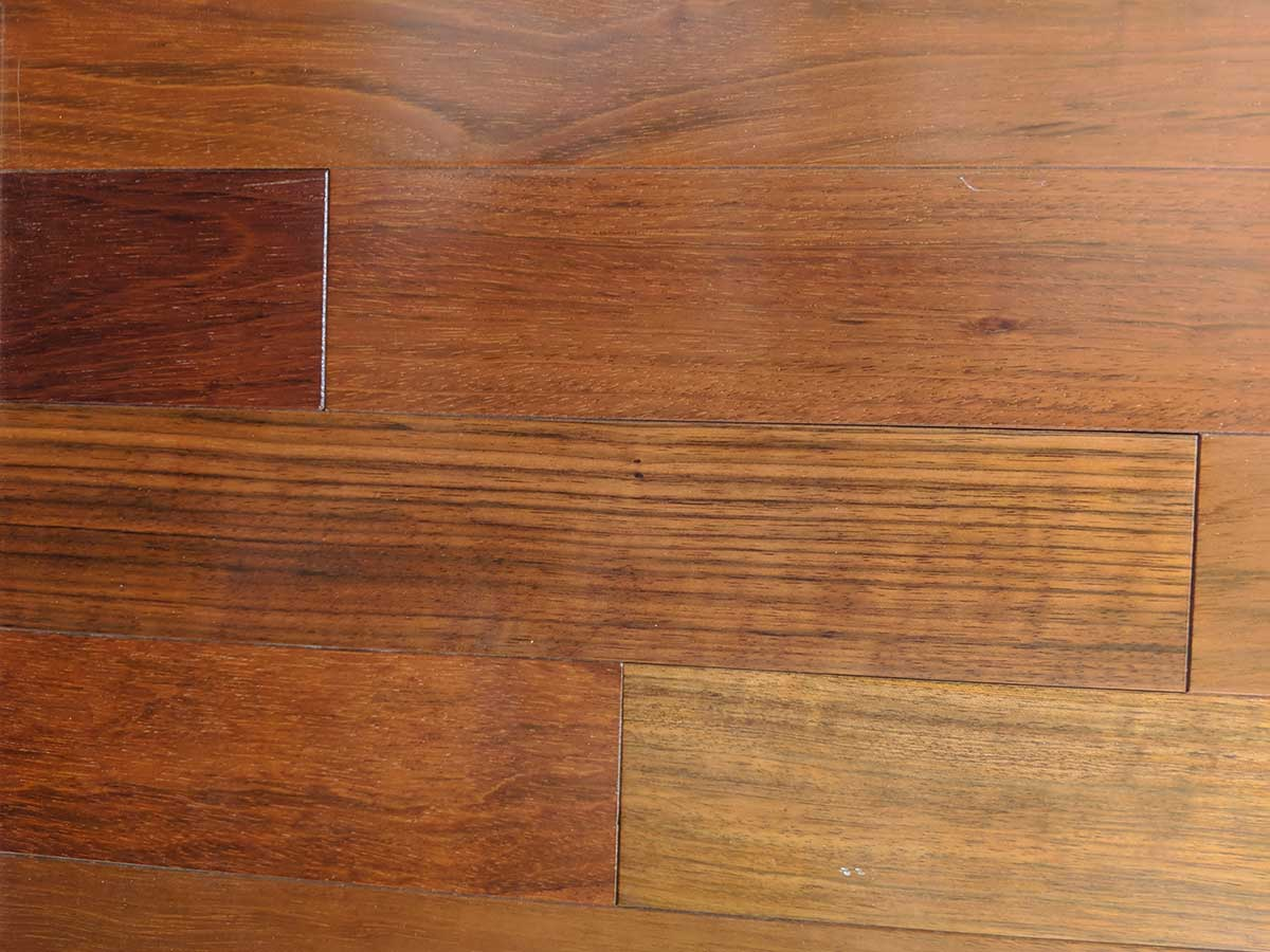 Close up of Brazilian Cherry (exotic) wood flooring
