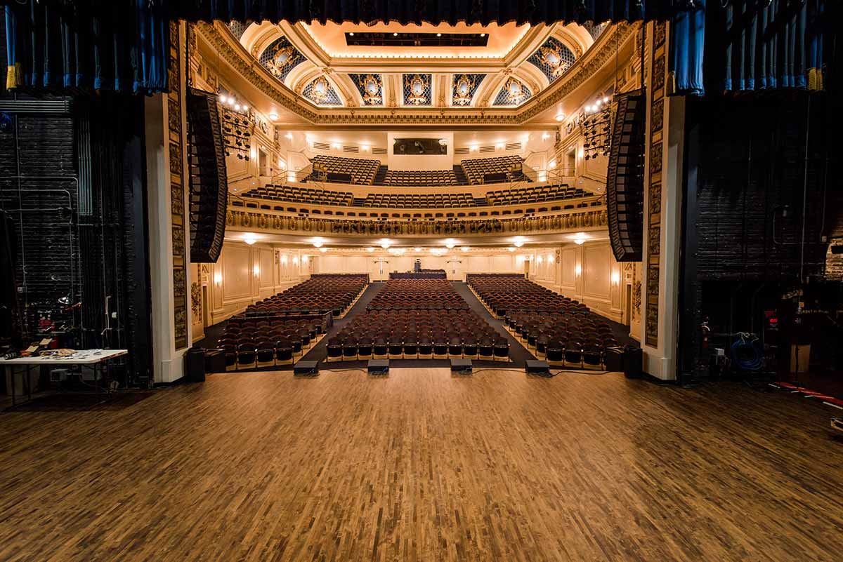 Restored Theatre with wood floors