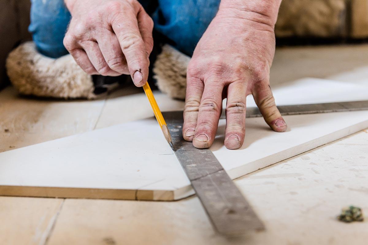Measuring and cutting hardwood flooring