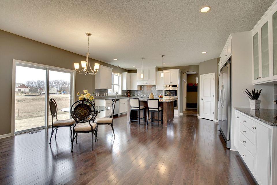 Kitchen with hardwood flooring