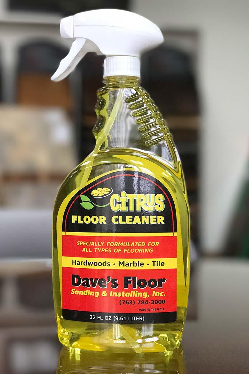 Dave's Floor Sanding & Installing Citrus floor cleaner