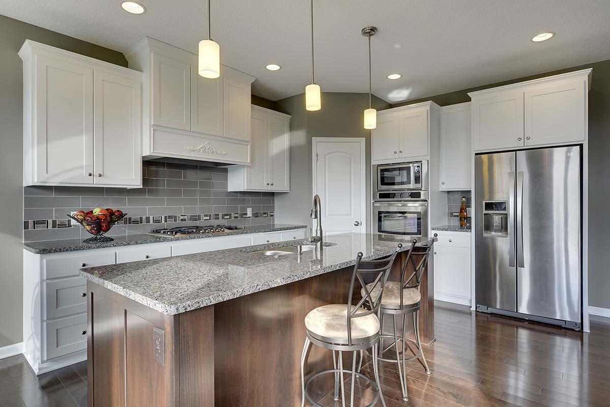 Modern Kitchen with hardwood flooring