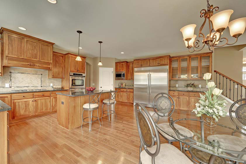 Remodeled Kitchen with hardwood flooring