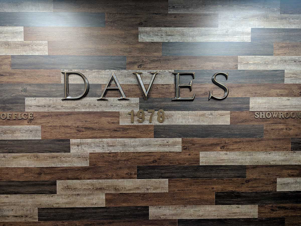 Daves Wood wall In Office