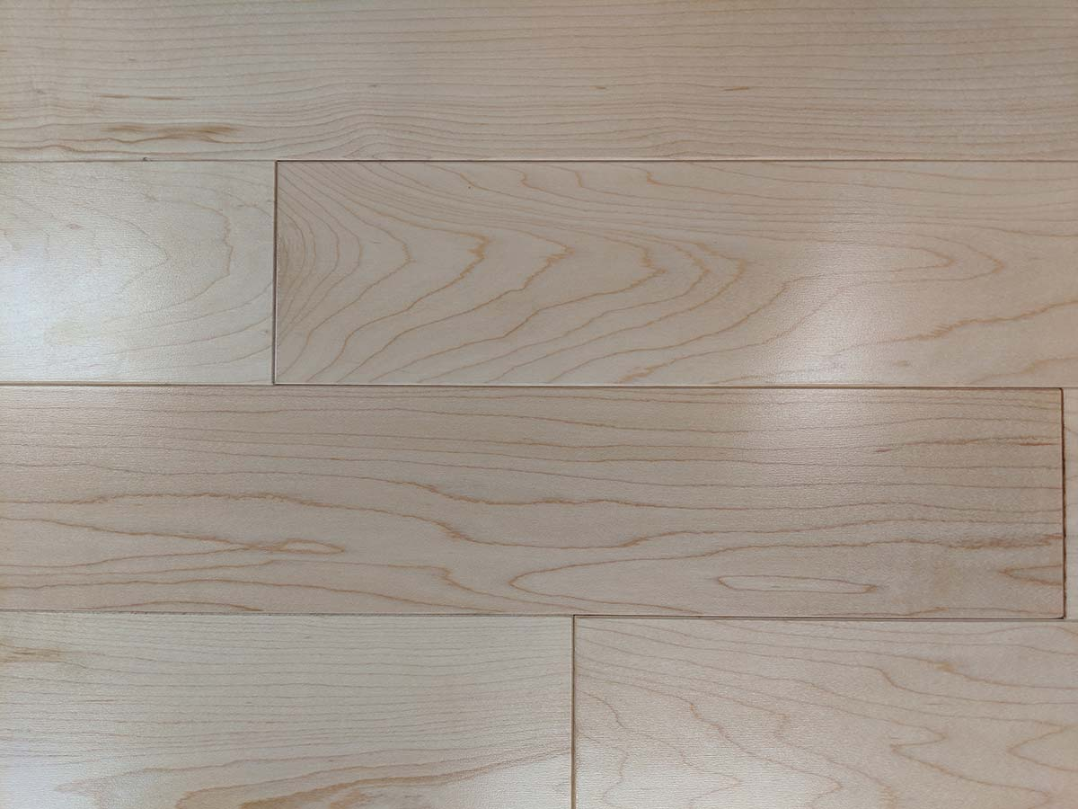 Close up of Maple wood flooring