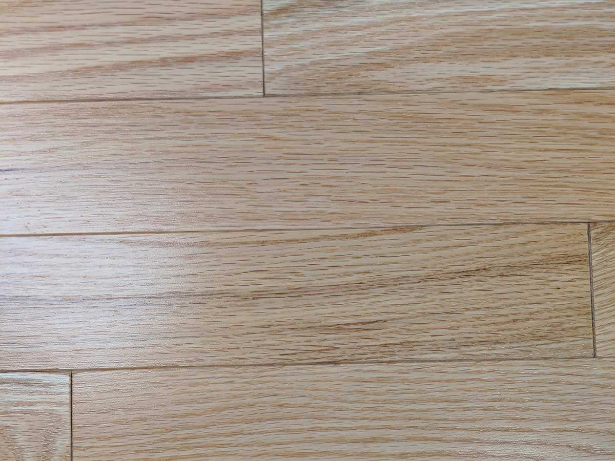 Close up of Red Oak wood flooring