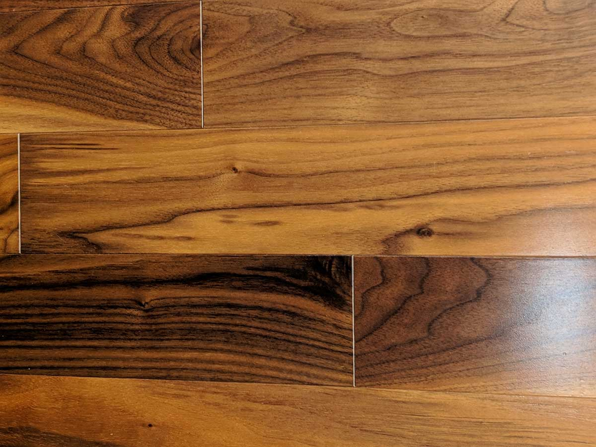 Close up of Walnut wood flooring