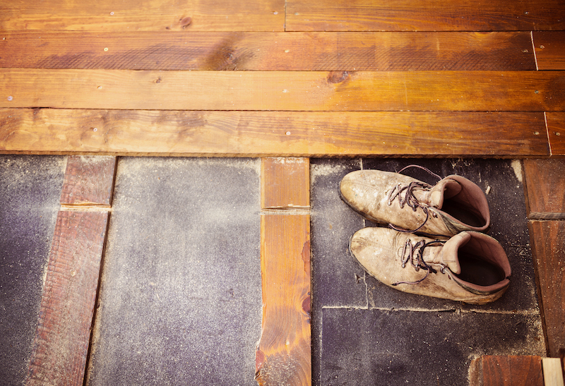 Shoes On Wood Flooring
